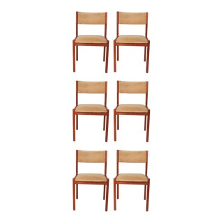 Set of Six j.l. Moller Teak Dining Chairs, 1960s, Denmark For Sale