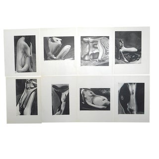 Vintage Mid Century Modernist Photography-Surreal Female Nudes by Andre Kertesz-Set of 8 For Sale