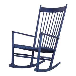 Hans Wegner Royal Blue Rocker For Sale