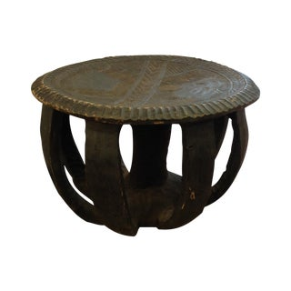 African Hand Carved Table