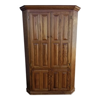 Late 20th Century Vintage Corner Cabinet For Sale