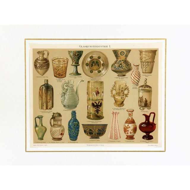 Antique Lithograph, Glassworks 1894 - Image 3 of 3