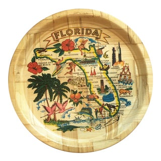 1960s Florida Tourism Landmarks and Attractions Tray