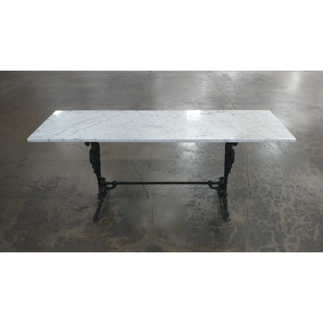 19th Century French Iron & Marble Top Pastry Table For Sale - Image 4 of 8