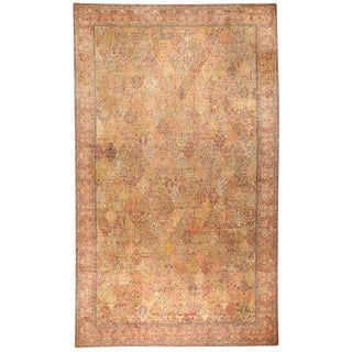 Exceptional Antique Oversize 19th Century Indian Carpet For Sale