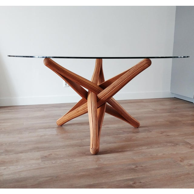 Mid-Century Modern Mid-Century Modern Lock Bamboo Dining Table Base For Sale - Image 3 of 13