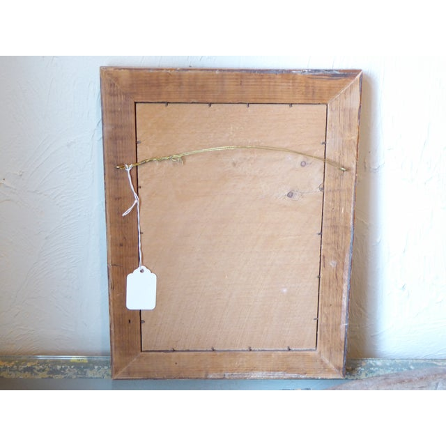 19th Century English Spring Flower Print in Maple Frame For Sale - Image 4 of 5