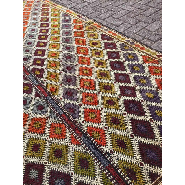 "Turkish Kilim Rug - 5'4"" X 9'1"" - Image 9 of 11"