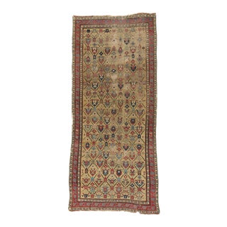 Early Yellow Ground Caucasian Rug - 3′ × 6′9″ For Sale