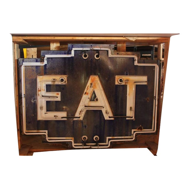 """1930's Vintage """"EAT"""" Neon Sign For Sale"""