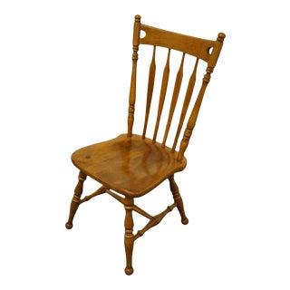 Ethan Allen Heirloom Nutmeg Maple Arrow Back Side Chair For Sale
