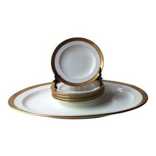 Minton English Bone China Dishes & Platter - Set of 6 For Sale