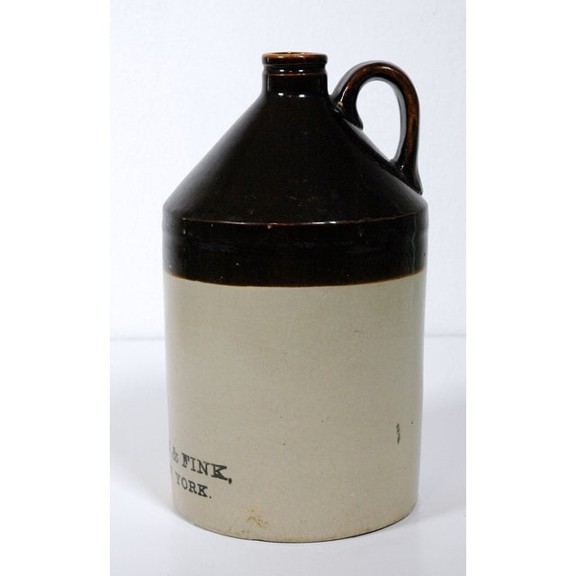 Early American Lehn & Fink Crock Earthenware Jug For Sale - Image 3 of 4