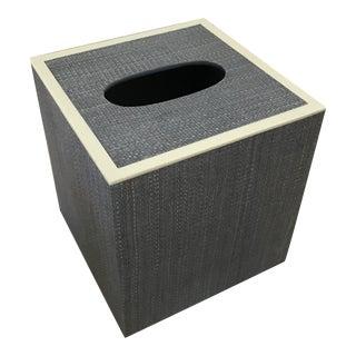 Maranello Steel Blue/White Square Tissue Box For Sale
