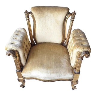 Gilt French Regency Bergere Chair