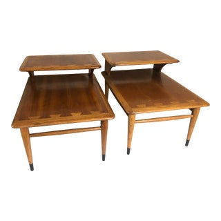 Mid-Century Lane Acclaim Two-Tier End Tables - a Pair For Sale