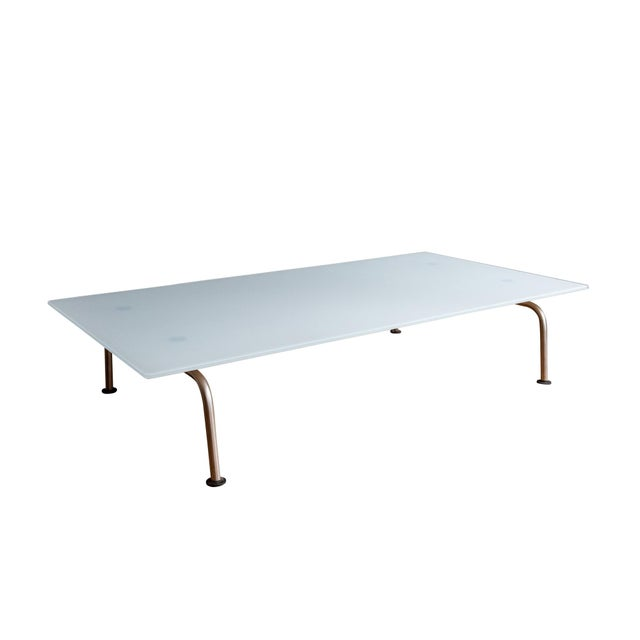 Metal Murano Glass Coffee Table by Vico Magistretti for Fritz Hansen For Sale - Image 7 of 7