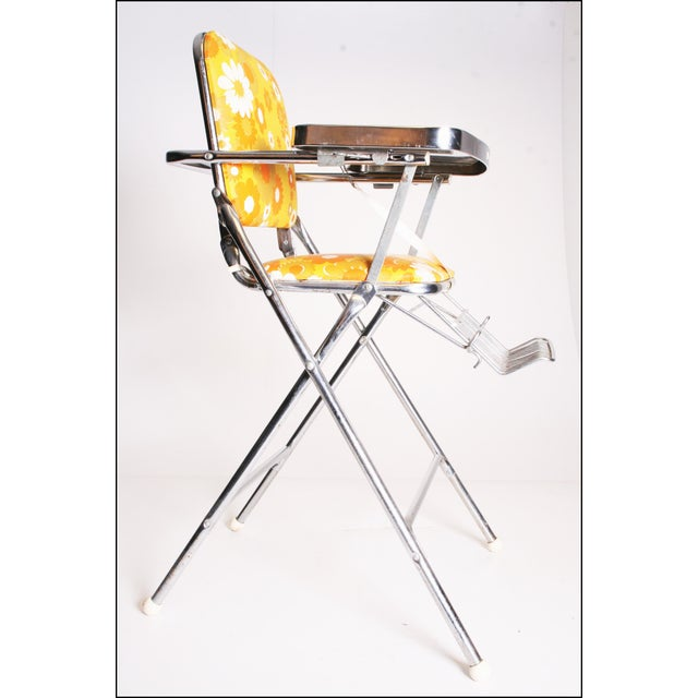 Mid Century Modern 70s Chrome High Chair by Taylor Tot For Sale - Image 5 of 11