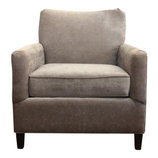 """Modern Norwalk """"Antonio""""Light Grey Velvet Occasional Chair For Sale"""
