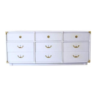 Vintage Campaign Lacquered Dresser by Drexel Accolade