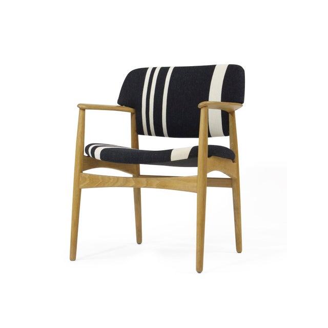 Oak Pair of Aksel Bender Madsen for Fritz Hansen Oak Armchairs For Sale - Image 7 of 11