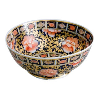 Mason's Ironstone Imari Pattern Punch Bowl For Sale