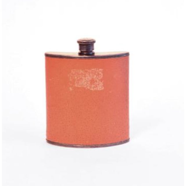 Traditional Vintage Leather Covered Flask For Sale - Image 3 of 3