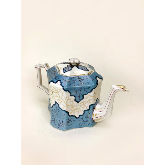 Rs Prussia Blue & White Angle Teapot For Sale In New York - Image 6 of 7
