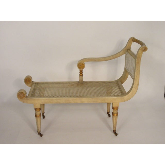 1960s Vintage Italian Classical Chaise For Sale - Image 4 of 10