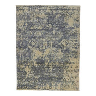 Contemporary Abstract Rug With Erased Design - 08'10 X 11'09 For Sale