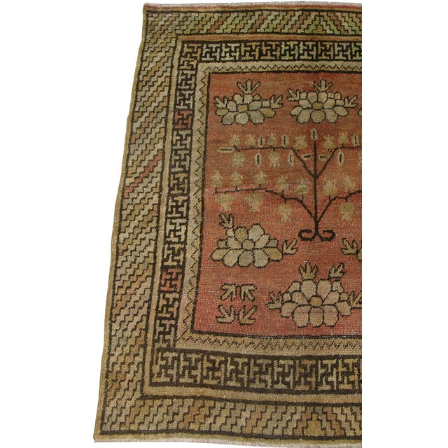 1900s Authentic Khotan Samarkand Rug-6'0'' X 4'6'' For Sale - Image 4 of 5
