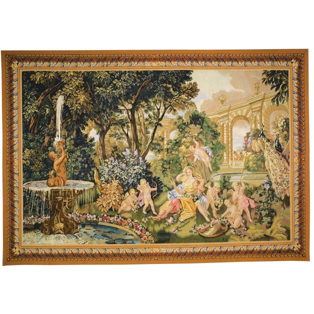 """Le Printemps From the Series """"Les Enfants Jardiniers"""" Tapestry For Sale"""