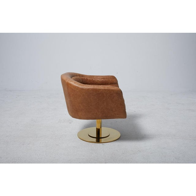 Cupa Brown Leather Chair - Image 4 of 5