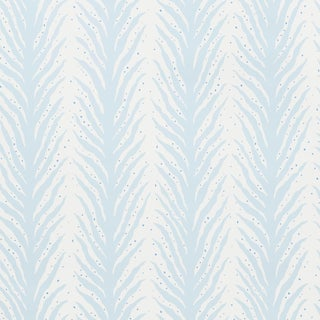 Schumacher X Celerie Kemble Creeping Fern Wallpaper in Slumber Blue For Sale