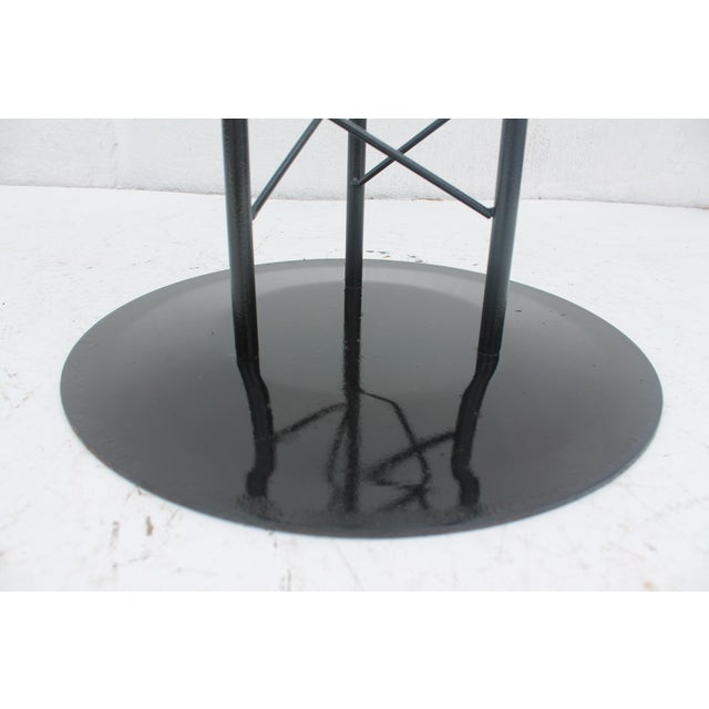 Italian Sculptural Pedestal Base Round Dining Table - Image 6 of 8