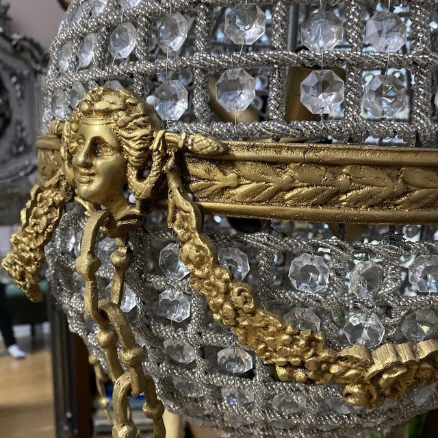 Crystal and Brass Hot Air Balloon Chandelier** For Sale In Atlanta - Image 6 of 11