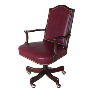 Hancock & Moore Leather Executive Desk Rolling Arm Chair