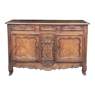 18th Century Country French Walnut Bressan Buffet For Sale