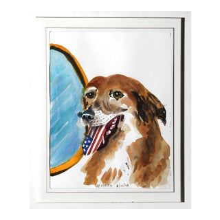 "Ray Smith, ""American Mutt"", Watercolor on Paper For Sale"
