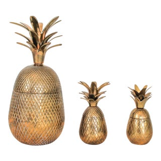 Brass Pineapples - Set of 3
