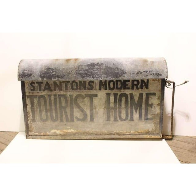 """Art Deco 1920's Vintage """"Tourist Home"""" Double Sided Sign For Sale - Image 3 of 3"""