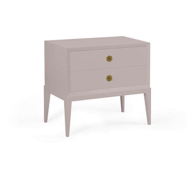Transitional Casa Cosima Hayes 2-Drawer Side Chest, Elephant Gray For Sale - Image 3 of 3