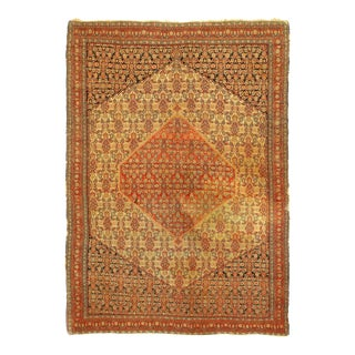 1920s Vintage Hand Knotted Persain Antique Senneh Rug For Sale