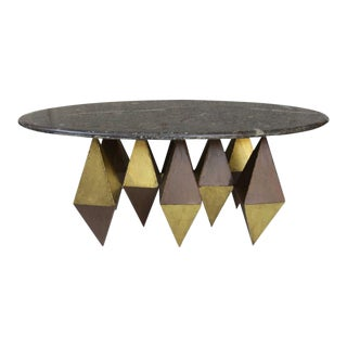 A Coffee Table in the style of Paul Evans, Italy