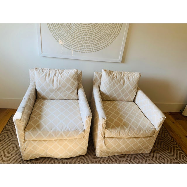 Traditional Serena & Lily Spruce Street Slipcovered Chairs - a Pair For Sale - Image 6 of 7