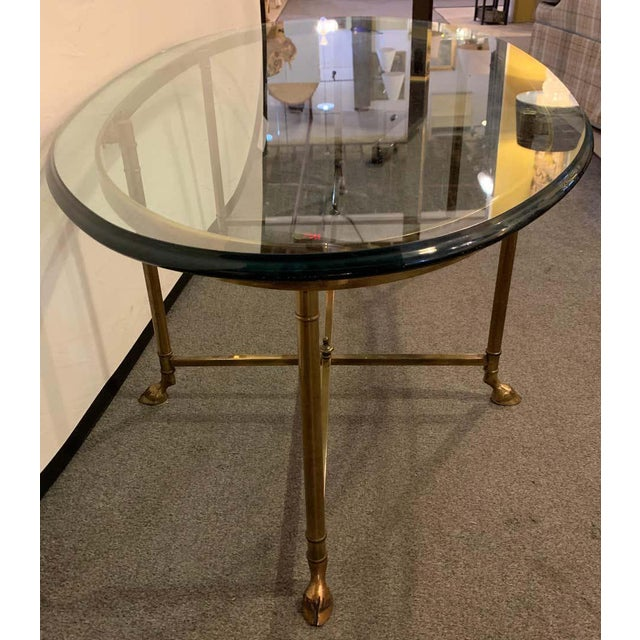 French French Hoof Foot Jansen Style Coffee/Low Table For Sale - Image 3 of 10