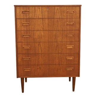 Original Danish Mid Century High Boy Dresser - Due For Sale