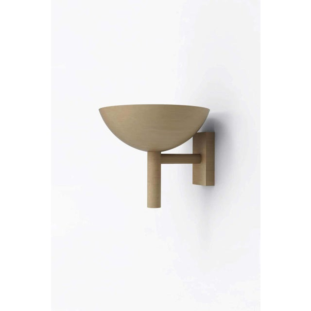 """Orphan Work 200 sconce BB, 2020 Shown in brushed brass Available in brushed brass and blackened brass Measures: 7"""" height..."""