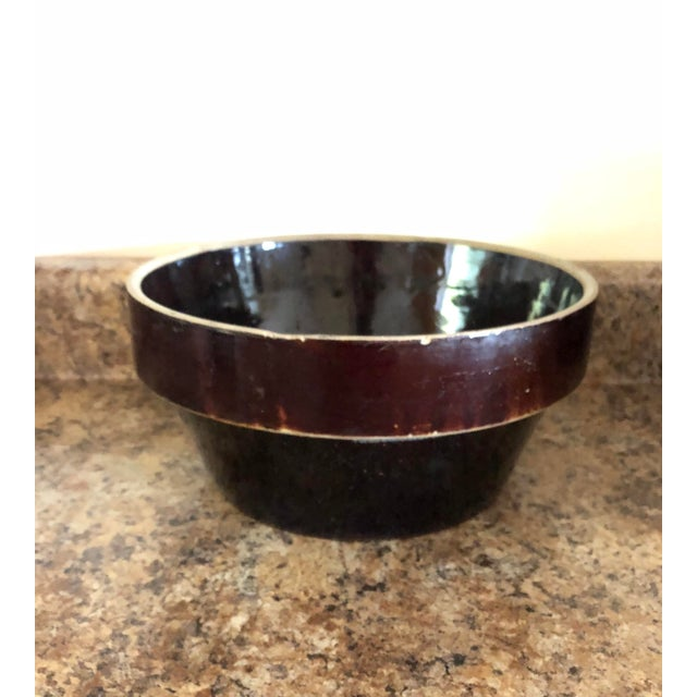 Wonderful bowl from days gone by. It will look great in your kitchen or repurposed in another room.