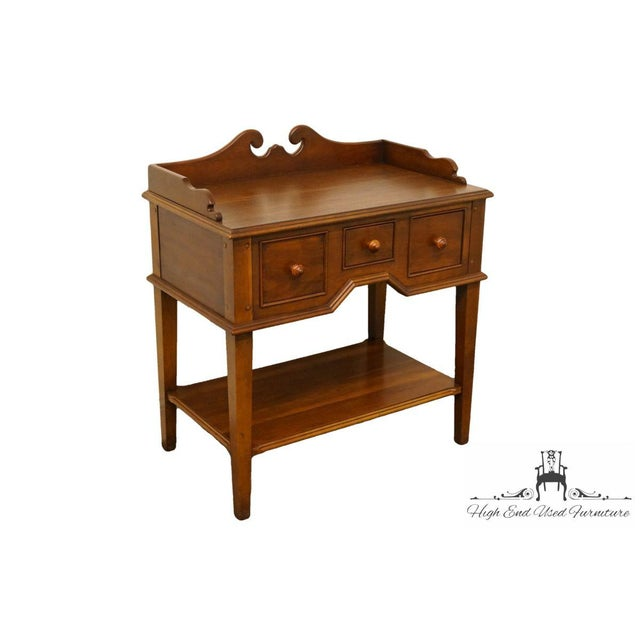 "Hickory Chair Solid Cherry Wood 29"" Accent Table / Nightstand Dimensions: 33″ High 29.5″ Wide 18″ Deep We specialize in..."